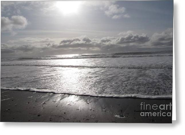 Pacific Ocean Prints Greeting Cards - Sunset at the Beach Greeting Card by Sandy Hawke