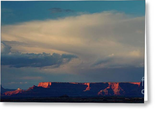 Thunderstorm Greeting Cards - Sunset at the Canyonlands Greeting Card by Keith Kapple