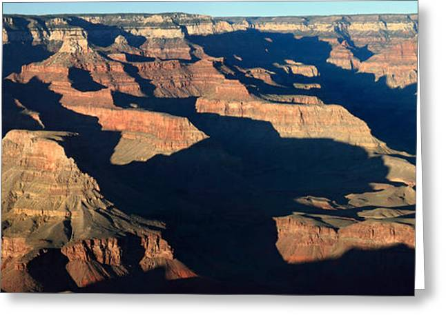 Amazing Sunset Greeting Cards - Sunset at the Grand Canyon Panorama Greeting Card by Pierre Leclerc Photography