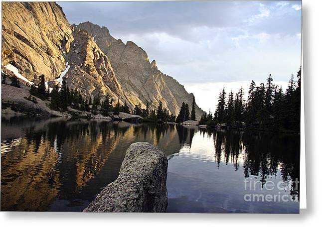 Sunset at Willow Lake Greeting Card by Scotts Scapes
