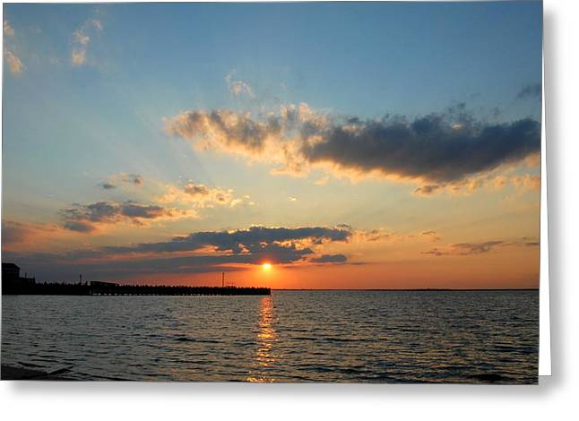 Sunset Greeting Cards Greeting Cards - Sunset Bay 48 Greeting Card by Joyce StJames