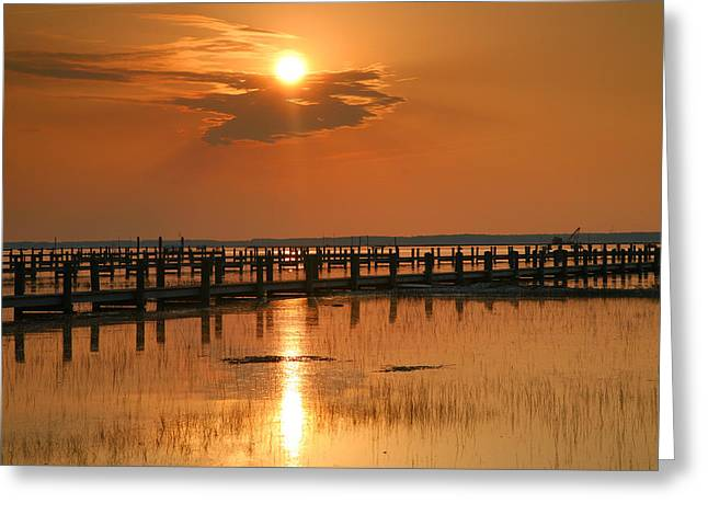 Sunset Prints Greeting Cards - Sunset Bay I Greeting Card by Steven Ainsworth