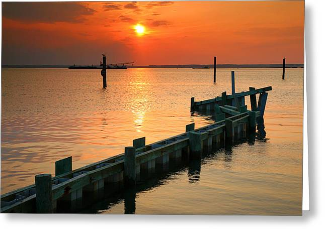 Sunset Prints Greeting Cards - Sunset Bay II Greeting Card by Steven Ainsworth