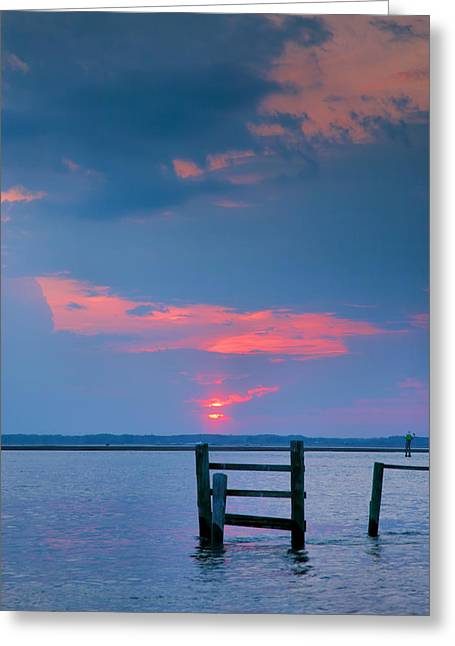 Sunset Prints Greeting Cards - Sunset Bay VIII Greeting Card by Steven Ainsworth