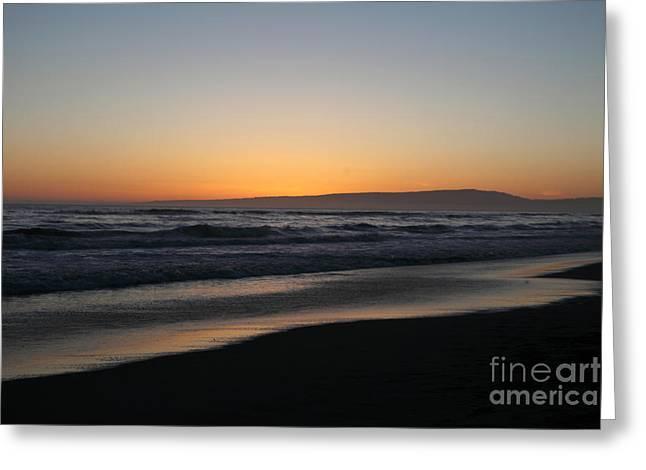 Pacific Ocean Prints Digital Art Greeting Cards - Sunset Beach California Greeting Card by Amanda Barcon
