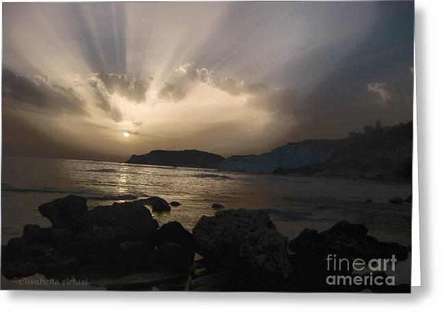 Sunset Greeting Card by Betta Artusi