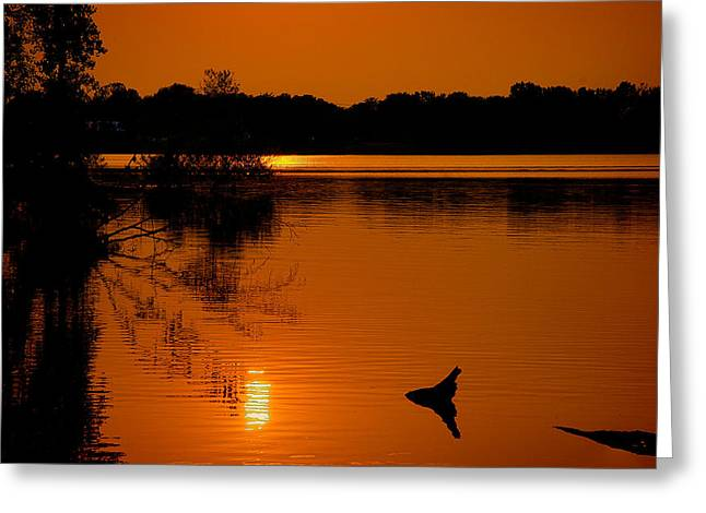 Dam Framed Prints Greeting Cards - Sunset Bliss Greeting Card by Rylan Beer
