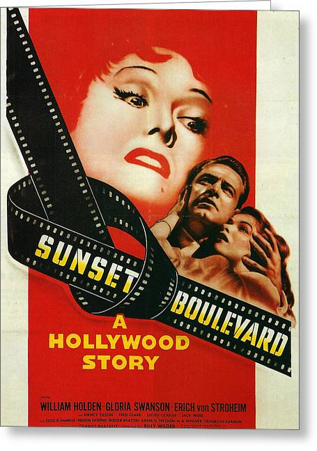 Film Noir Greeting Cards - Sunset Boulevard Greeting Card by Nomad Art And  Design