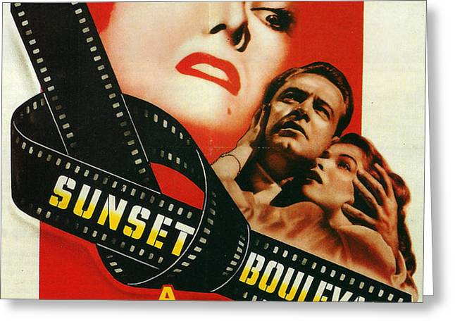 Sunset Boulevard Greeting Card by Nomad Art And  Design