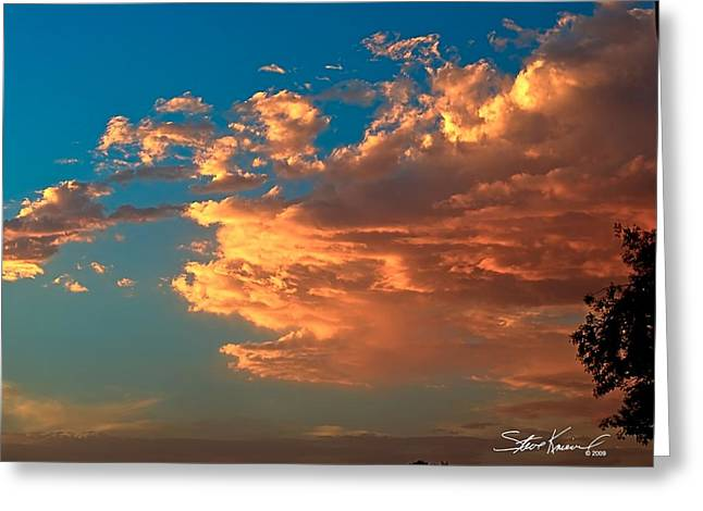 Steve Knievel Greeting Cards - Sunset Calm Skies Greeting Card by Steve Knievel