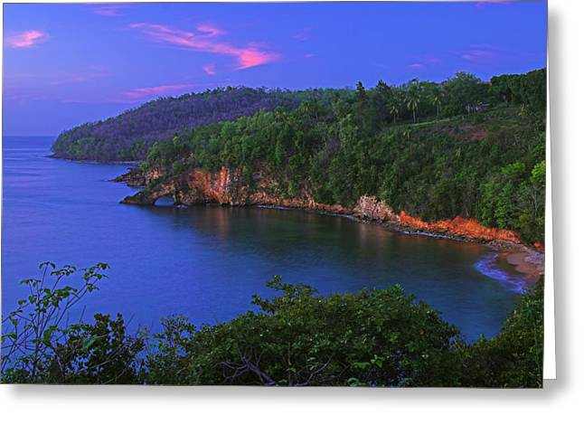 Sunset Greeting Cards Greeting Cards - Sunset-Ciceron- St Lucia Greeting Card by Chester Williams