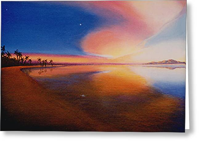 Sharon Ebert Greeting Cards - Sunset Clearing Greeting Card by Sharon Ebert