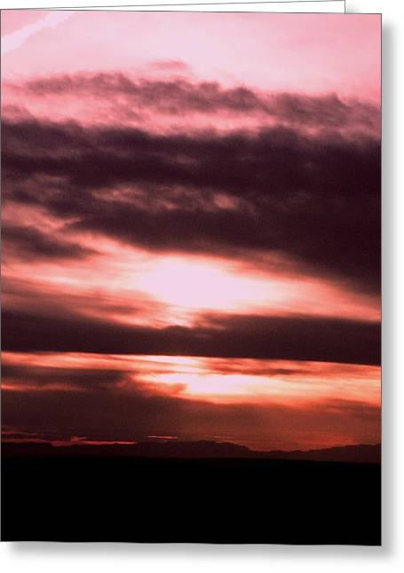 Soft Light Pyrography Greeting Cards - Sunset Colors Greeting Card by Aliesha Fisher