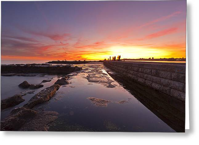 Por Greeting Cards - Sunset colors Greeting Card by Mauricio Reis