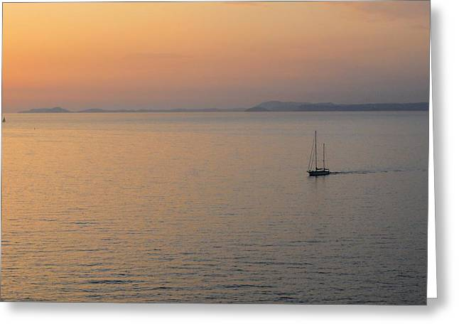 Sunset Cruise Greeting Card by