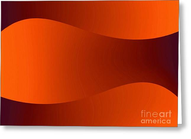 Sand Dunes Paintings Greeting Cards - Sunset Dunes Greeting Card by Pet Serrano