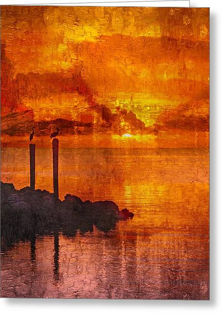 Unset Greeting Cards - Sunset Florida Keys - 4 Greeting Card by Larry Mulvehill