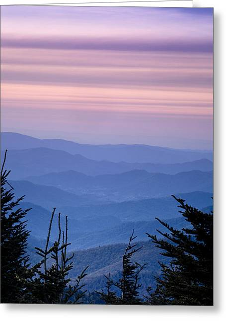 Blue Ridge Parkway Greeting Cards - Sunset from the Top Greeting Card by Andrew Soundarajan