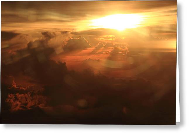 Rahul Manglekar Greeting Cards - Sunset Glare Greeting Card by Rahul Manglekar