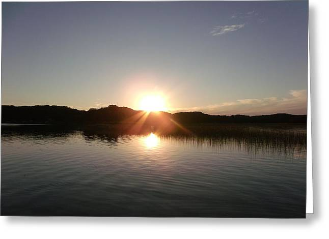 Sunset Glass At The Lake Greeting Card by Brian  Maloney