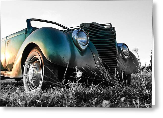 1949 Plymouth Greeting Cards - Sunset Hot Rod Greeting Card by Steve McKinzie
