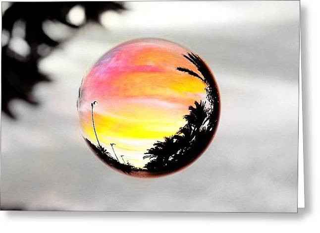 Sunset In A Bubble Greeting Card by Marianna Mills