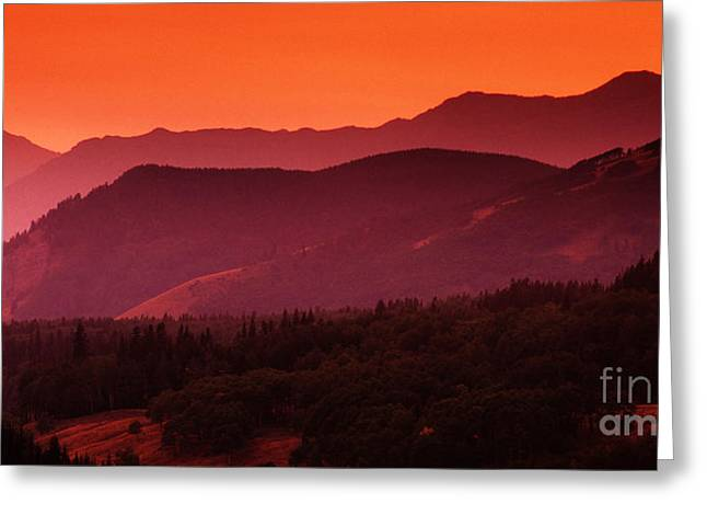 Canadian Foothills Landscape Greeting Cards - Sunset In Alberta Greeting Card by Bob Christopher
