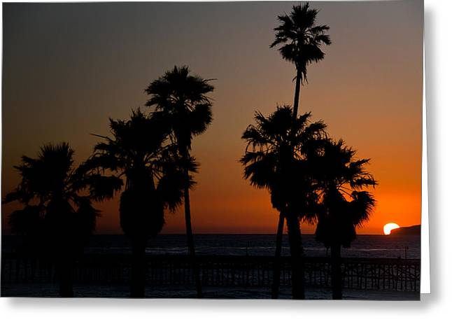 sunset in Califiornia Greeting Card by Ralf Kaiser