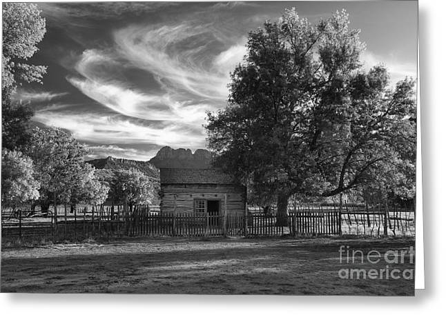 Rustic House Greeting Cards - Sunset in Grafton Ghost Town Greeting Card by Sandra Bronstein