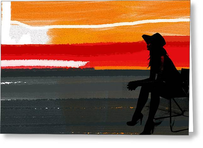 Intense Paintings Greeting Cards - Sunset in Hamptons Greeting Card by Naxart Studio
