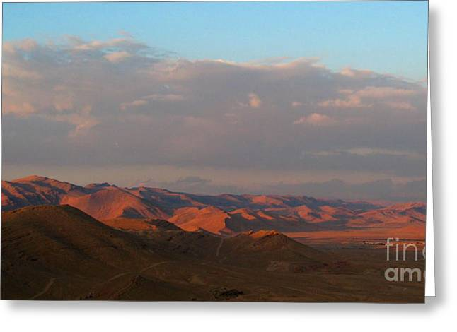 Sunset In The Syrian Desert Greeting Card by Issam Hajjar