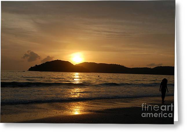 Beach Photos Greeting Cards - Sunset Greeting Card by Ivy Ho
