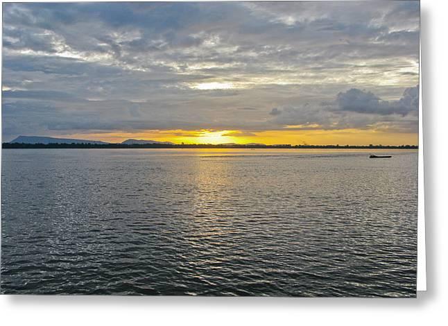 Nawarat Namphon Photographs Greeting Cards - Sunset landscape Greeting Card by Nawarat Namphon