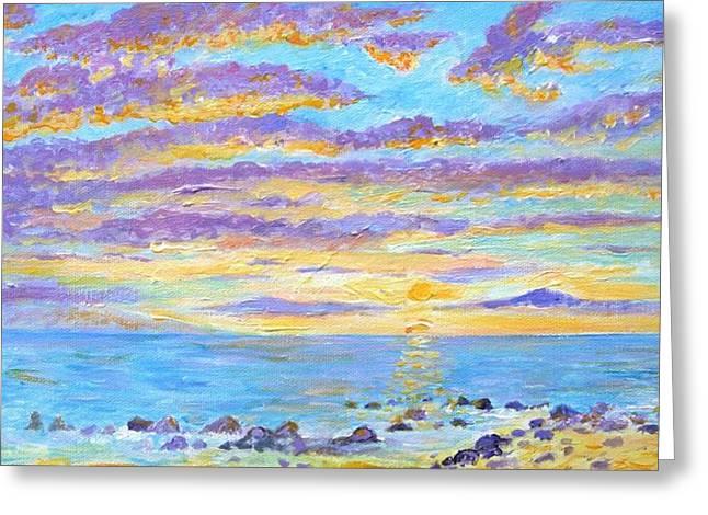 Sunset Maui Greeting Card by Tamara Tavernier