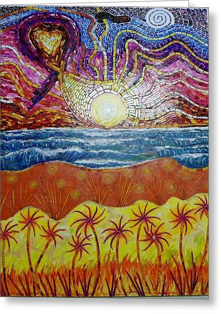 Sunset Greeting Card by Mike Stair