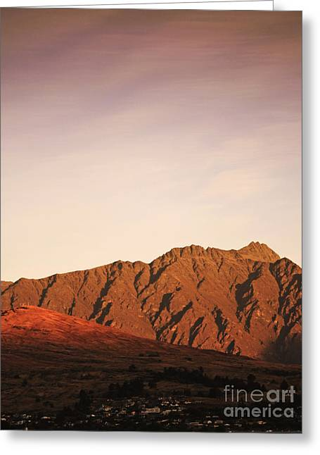 Mountain Greeting Cards - Sunset mountain 2 Greeting Card by Pixel Chimp