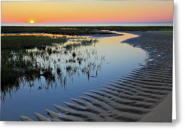 Cape Greeting Cards - Sunset on Cape Cod Greeting Card by Rick Berk