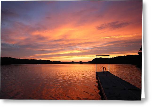 Ewing Greeting Cards - Sunset on Chilhowee Greeting Card by Christopher Ewing