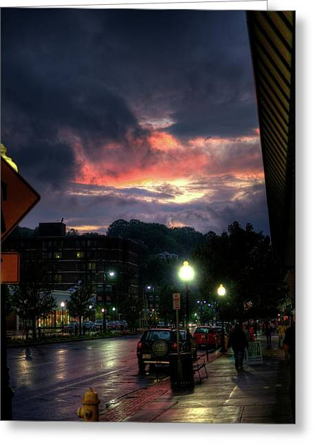 Western Massachusetts Greeting Cards - Sunset on Main Greeting Card by Joshua Volff