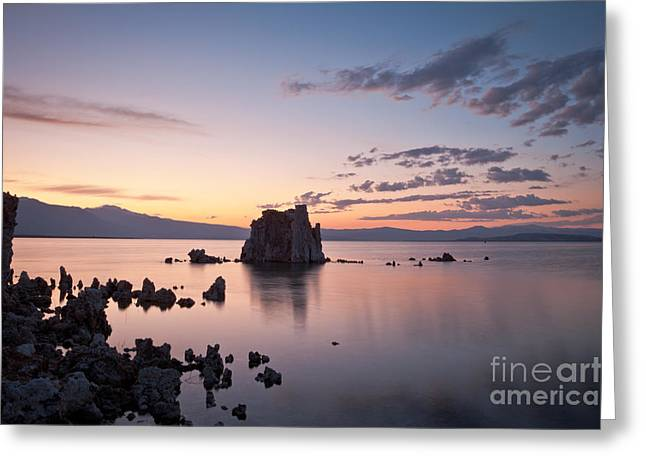Alkaline Greeting Cards - Sunset on Mono Lake Greeting Card by Olivier Steiner