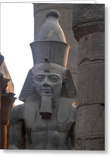 Hathor Greeting Cards - Sunset On Ramesses the Great Greeting Card by Richard Deurer
