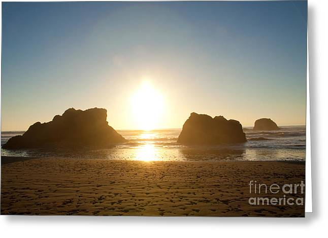Pacific Ocean Prints Greeting Cards - Sunset on Ruby Beach Greeting Card by Dana Kern