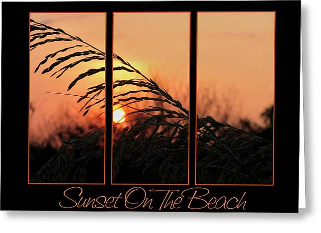 Sea Oats Greeting Cards - Sunset On The Beach Greeting Card by Carolyn Marshall