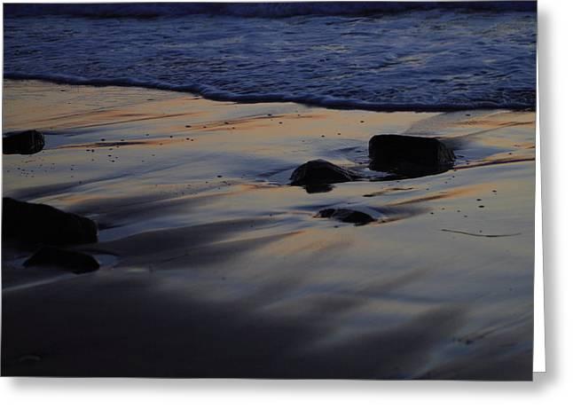 Randy Bayne Greeting Cards - Sunset on the Beach Greeting Card by Randy Bayne