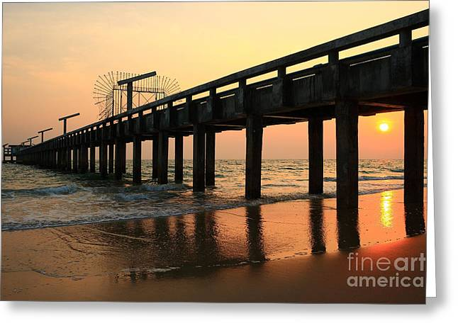 Relaxen Greeting Cards - Sunset on the beach Greeting Card by Suwit Ritjaroon