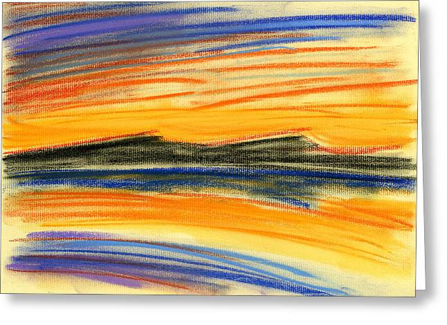Lightscapes Greeting Cards - Sunset on the Lake Greeting Card by Hakon Soreide