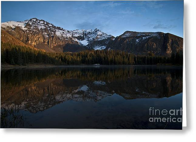 Sunset On The Mountains Greeting Card by Jeff Kolker