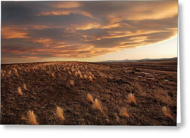 Sunset On The Ridge Greeting Card by James Steele