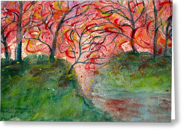Tatyana Greeting Cards - Sunset on the River Greeting Card by Tatyana Seamon