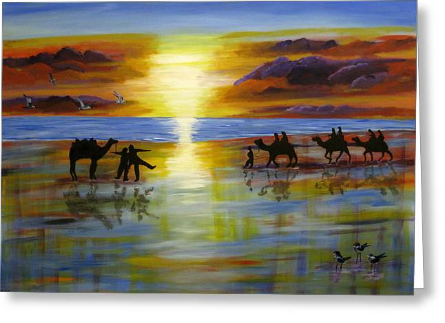 Susan Mclean Gray Greeting Cards - Sunset on the Top End Greeting Card by Susan McLean Gray